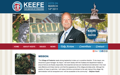 Stephen Keefe For Mayor Homepage